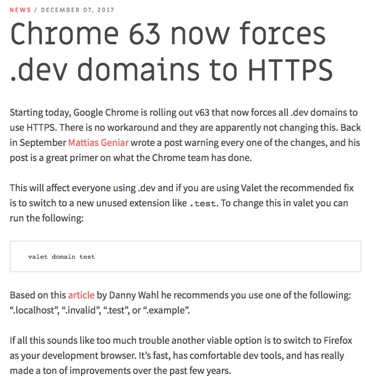 Chrome update news